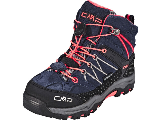 CMP Campagnolo Rigel WP Mid Trekking Shoes Kids, antracite-red fluo